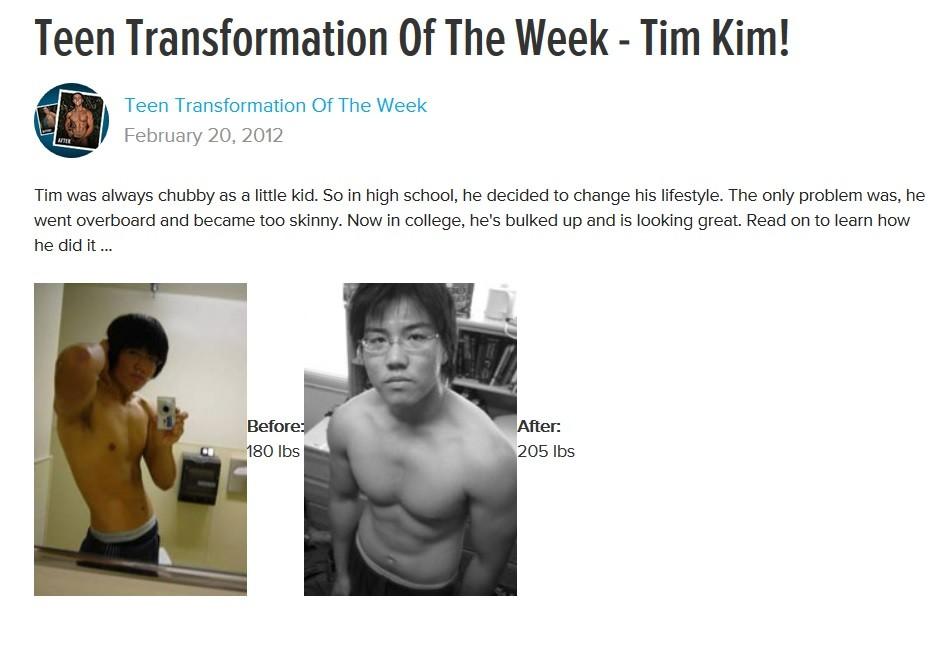 My Bodybuilding.com Article
