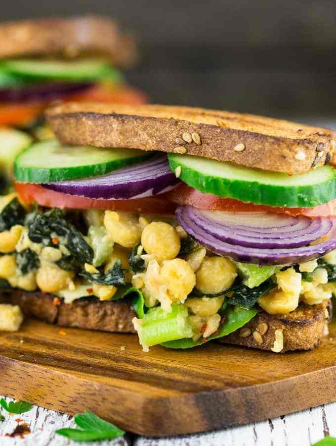 "Make packing lunch for work or school FUN with these 10 delicious vegan sandwiches! With everything from BLTs to ""egg"" salad, you'll never get bored."